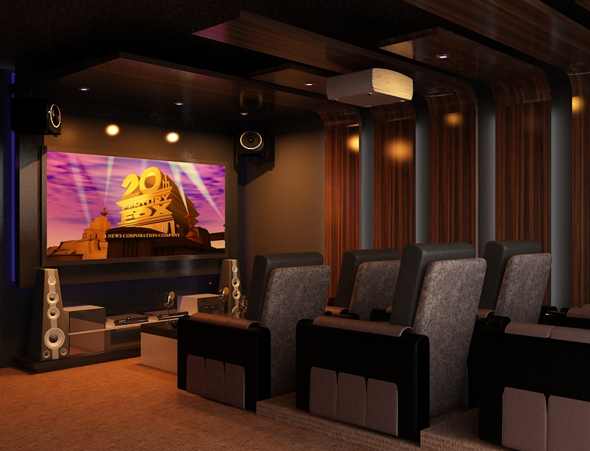 Interior ruang home theater home design and style - Interior design for home theatre ...