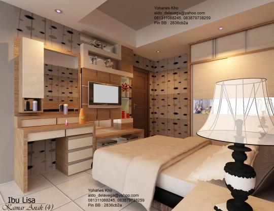 Desain lemari TV apartemen